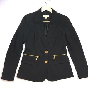 Michael Kors black button blazer